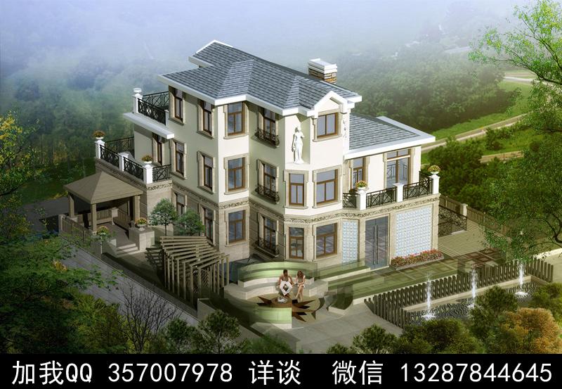 别墅院子设计案例效果图_图1-21