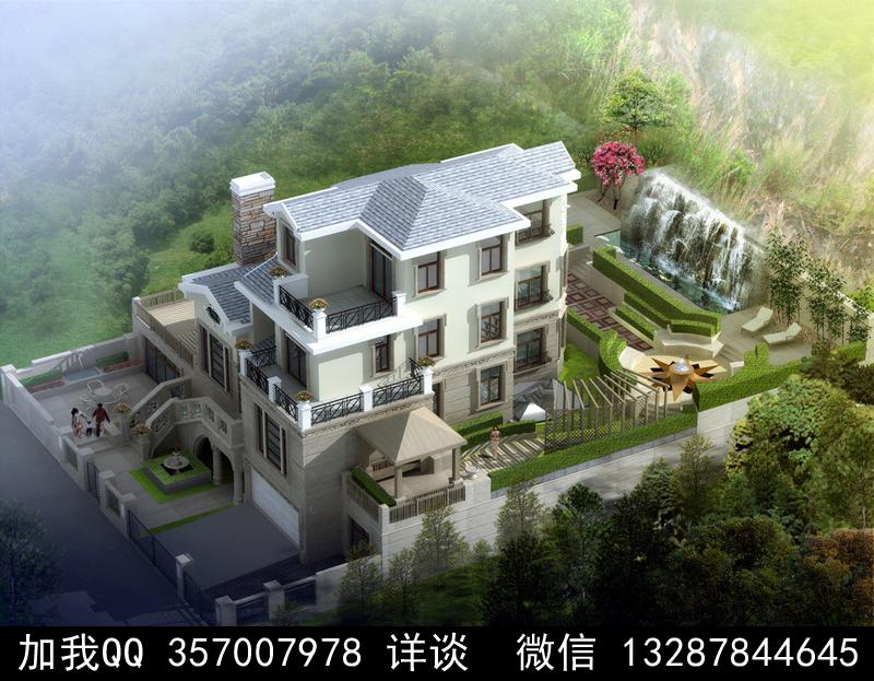 别墅院子设计案例效果图_图1-16