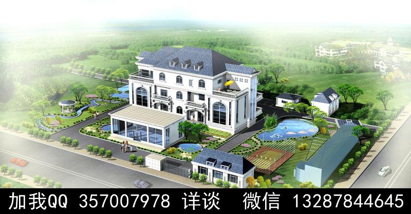 别墅院子设计案例效果图_图1-17
