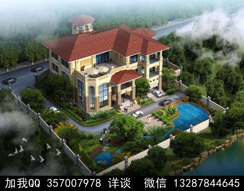 别墅院子设计案例效果图_图1-20