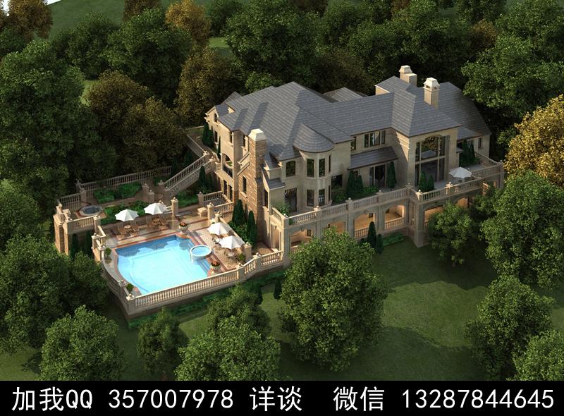 别墅院子设计案例效果图_图1-15