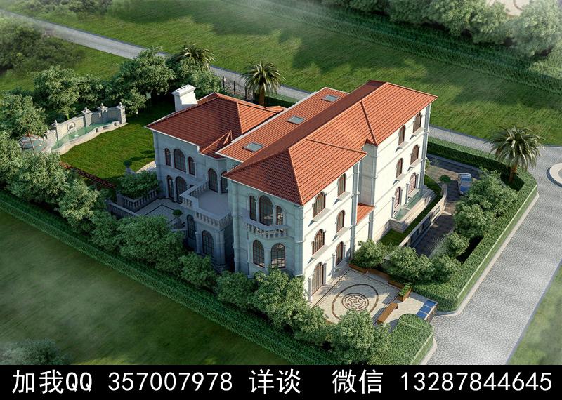 别墅院子设计案例效果图_图1-14