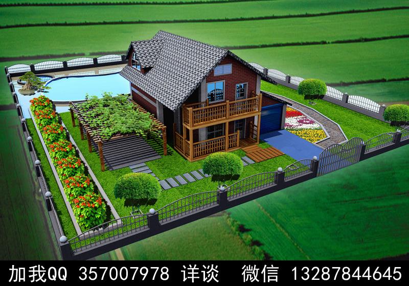 别墅院子设计案例效果图_图1-13