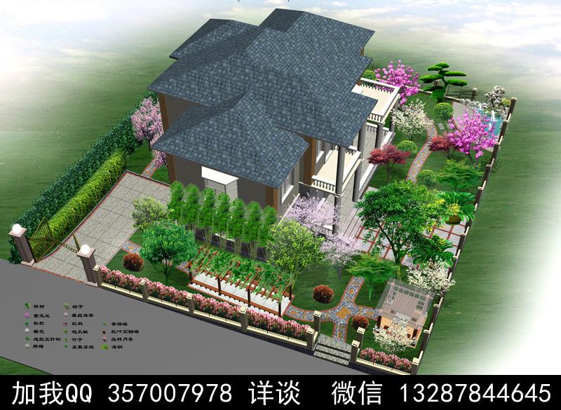 别墅院子设计案例效果图_图1-12