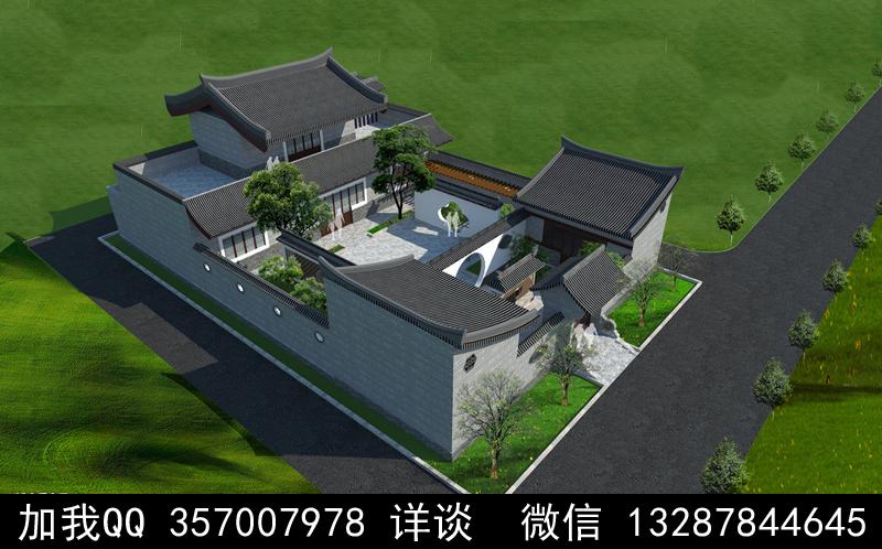 别墅院子设计案例效果图_图1-11