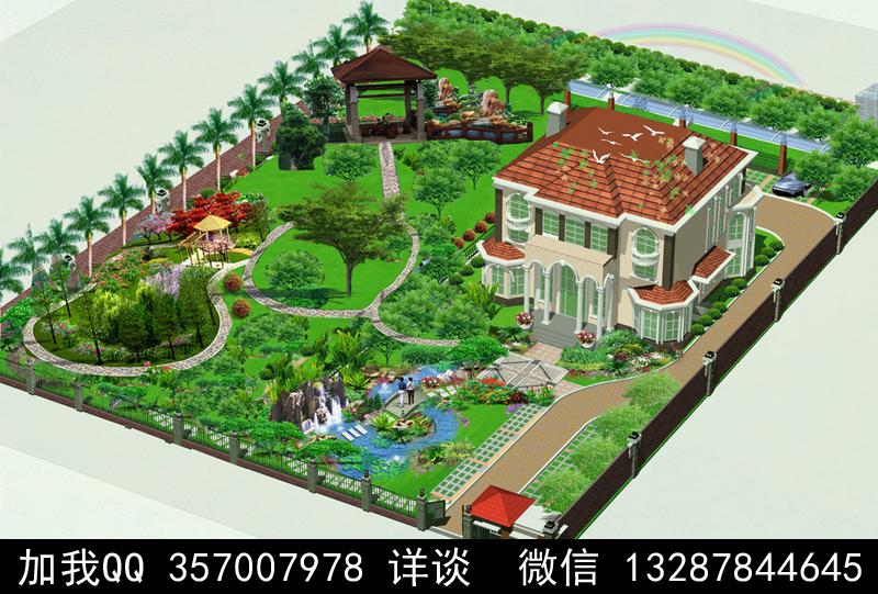 别墅院子设计案例效果图_图1-6