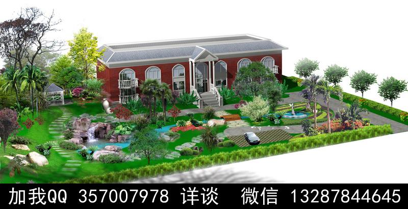 别墅院子设计案例效果图_图1-8