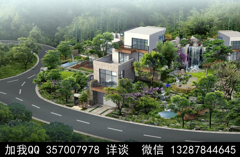 别墅院子设计案例效果图_图1-9