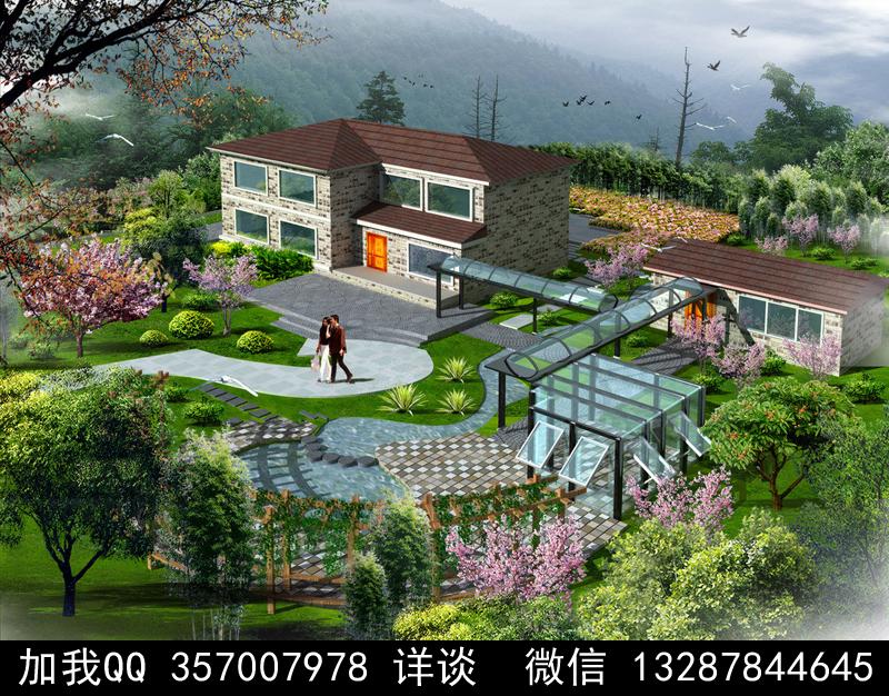 别墅院子设计案例效果图_图1-10