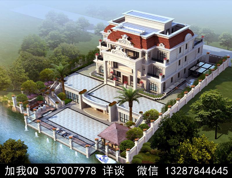 别墅院子设计案例效果图_图1-4