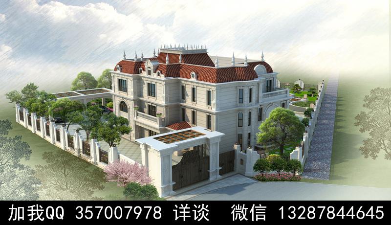 别墅院子设计案例效果图_图1-3