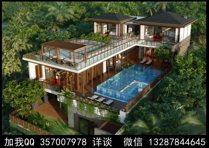 别墅院子设计案例效果图_图1-1