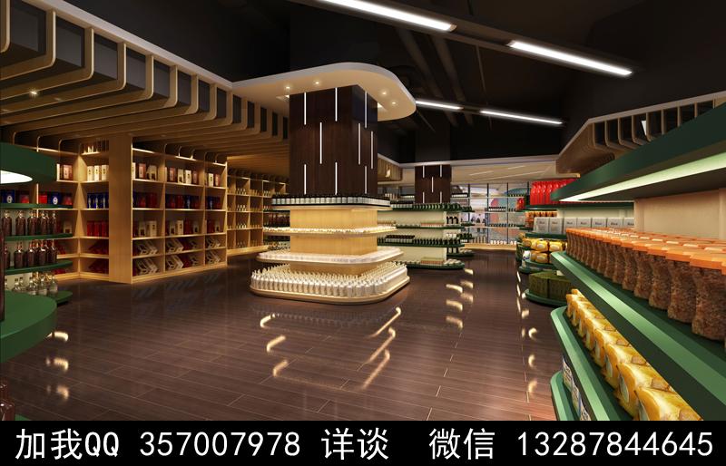 超市设计案例效果图_图1-15