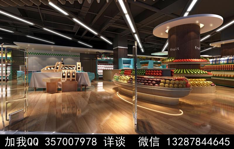 超市设计案例效果图_图1-16