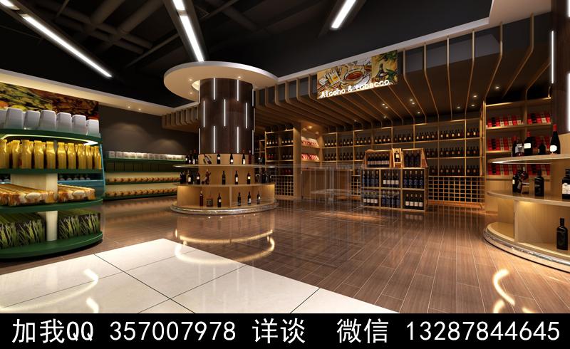 超市设计案例效果图_图1-17