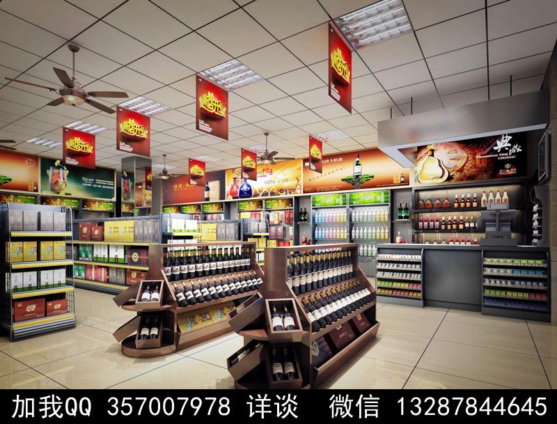 超市设计案例效果图_图1-14