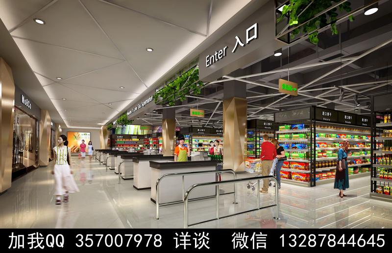 超市设计案例效果图_图1-13