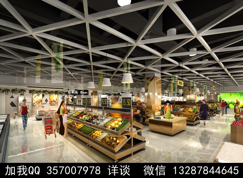 超市设计案例效果图_图1-11