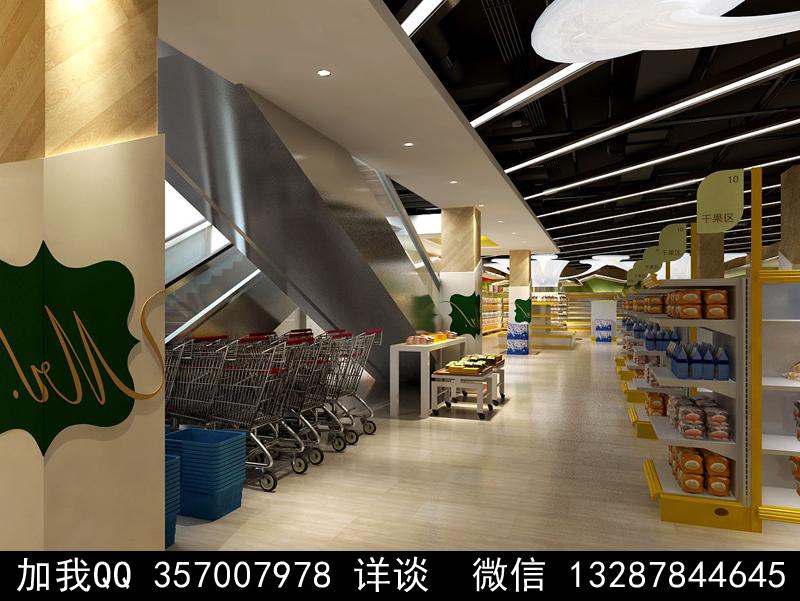 超市设计案例效果图_图1-6