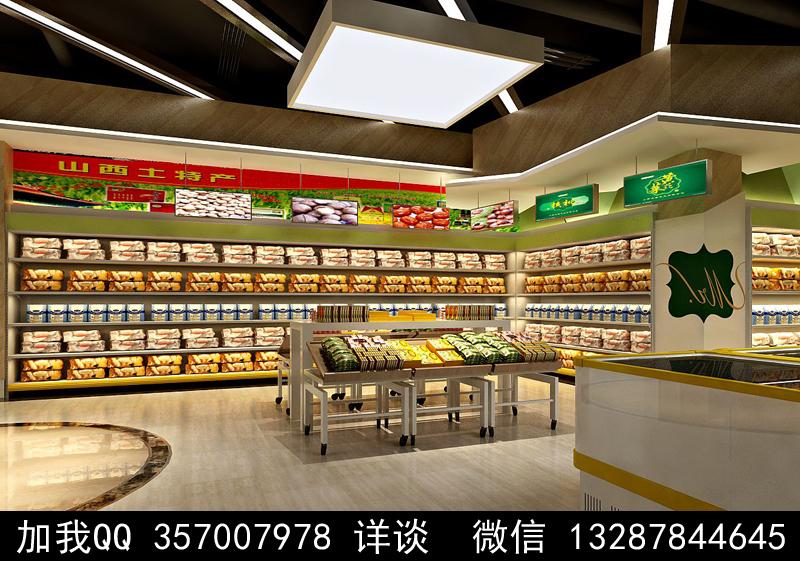 超市设计案例效果图_图1-7