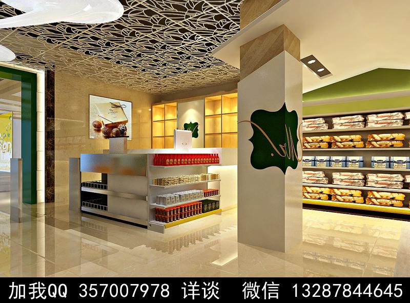 超市设计案例效果图_图1-8
