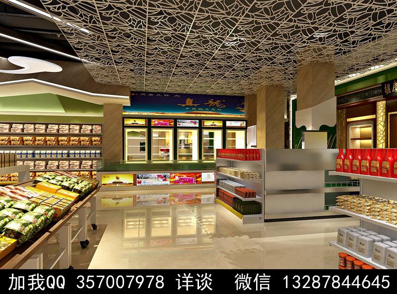 超市设计案例效果图_图1-9