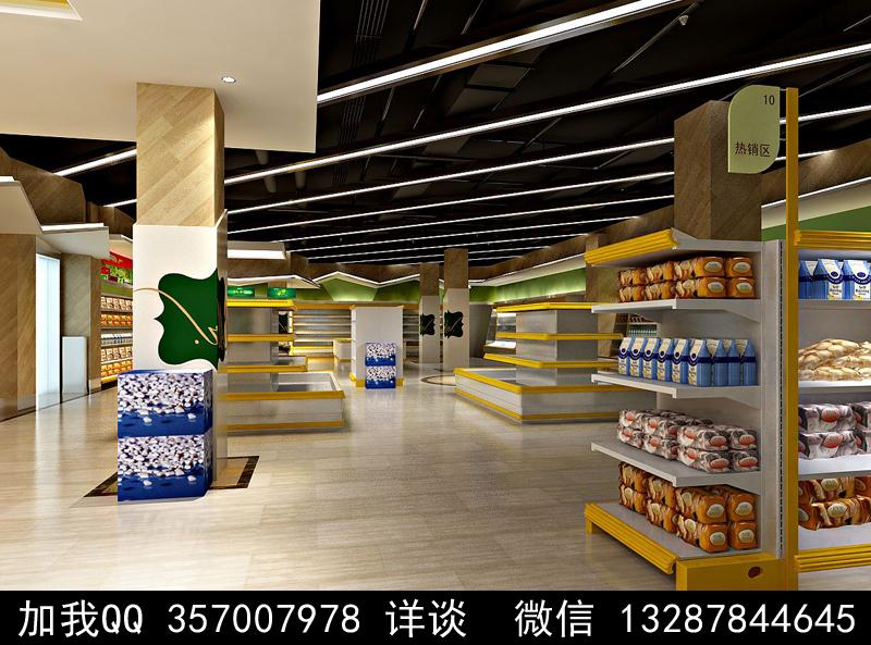 超市设计案例效果图_图1-10