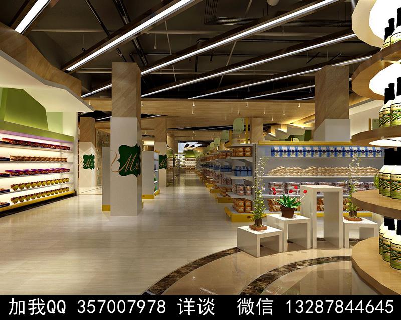 超市设计案例效果图_图1-4
