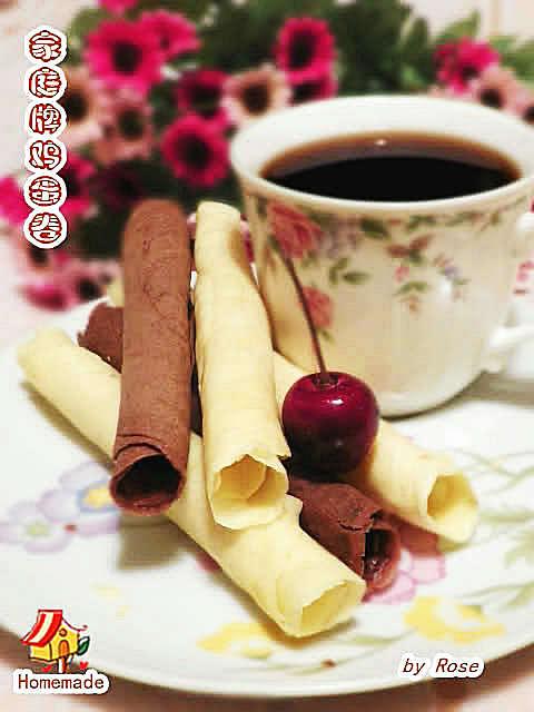 家庭版香草巧克力蛋卷_图1-5