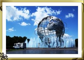壮观的法拉盛可乐娜地球仪喷水池