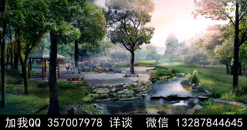 公园设计案例效果图_图1-1