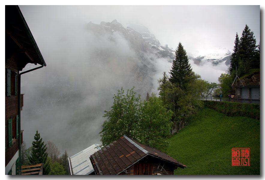 《酒一船摄影》:悬崖上的小镇,烟雨缪伦(Mürren)_图1-4