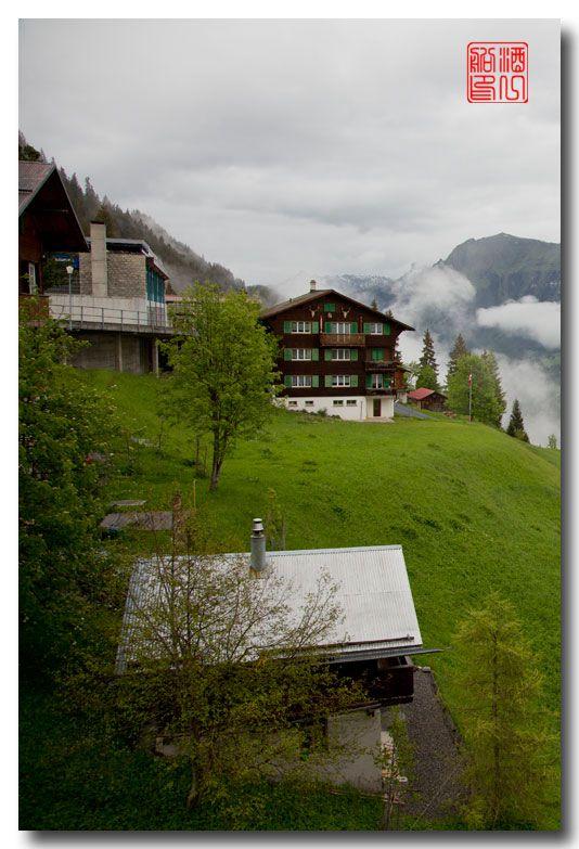 《酒一船摄影》:悬崖上的小镇,烟雨缪伦(Mürren)_图1-6
