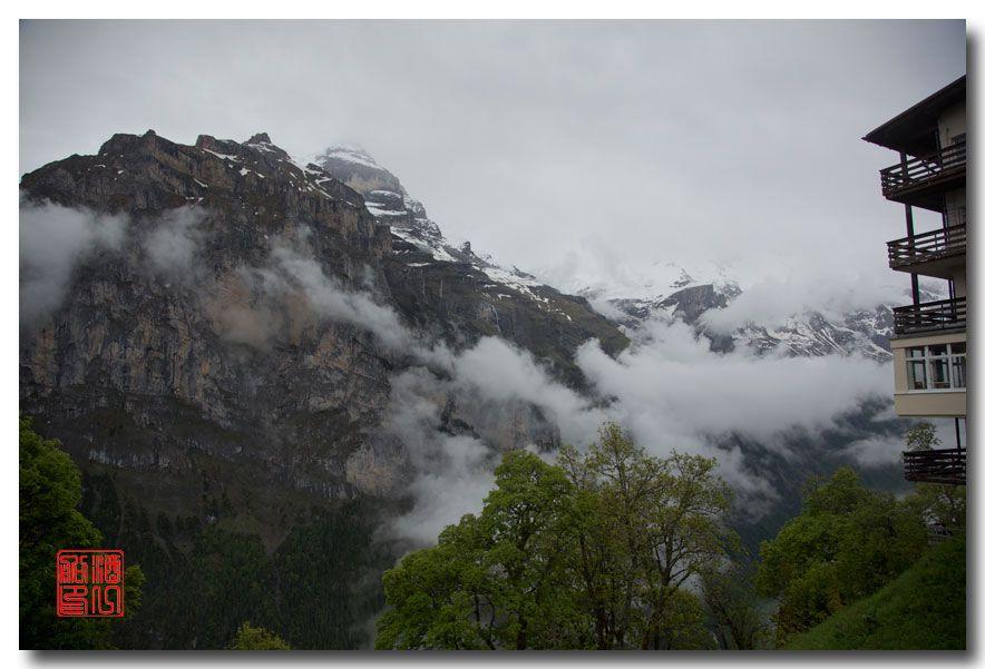 《酒一船摄影》:悬崖上的小镇,烟雨缪伦(Mürren)_图1-8