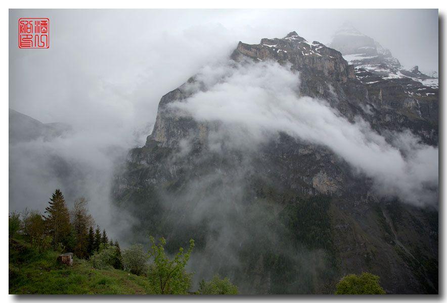 《酒一船摄影》:悬崖上的小镇,烟雨缪伦(Mürren)_图1-21