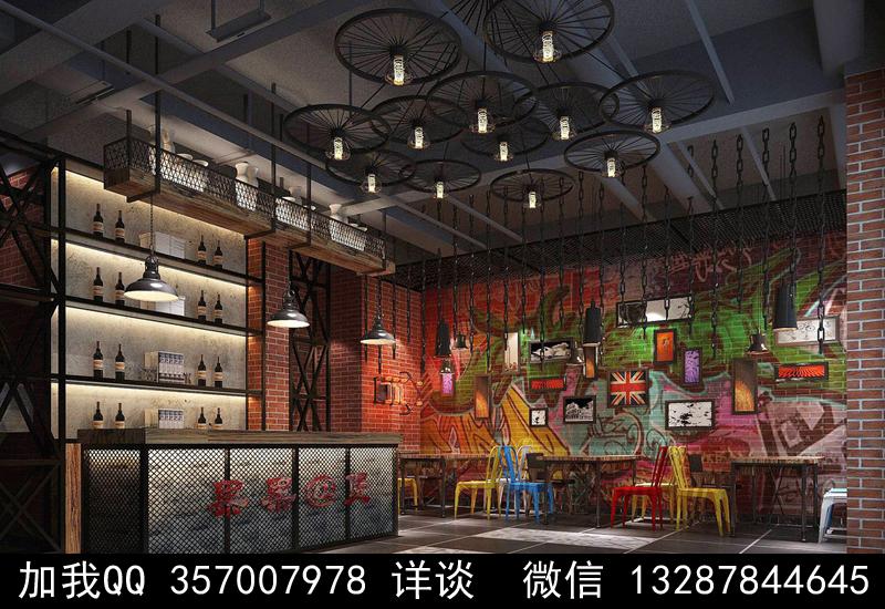 酒吧设计案例效果图_图1-16
