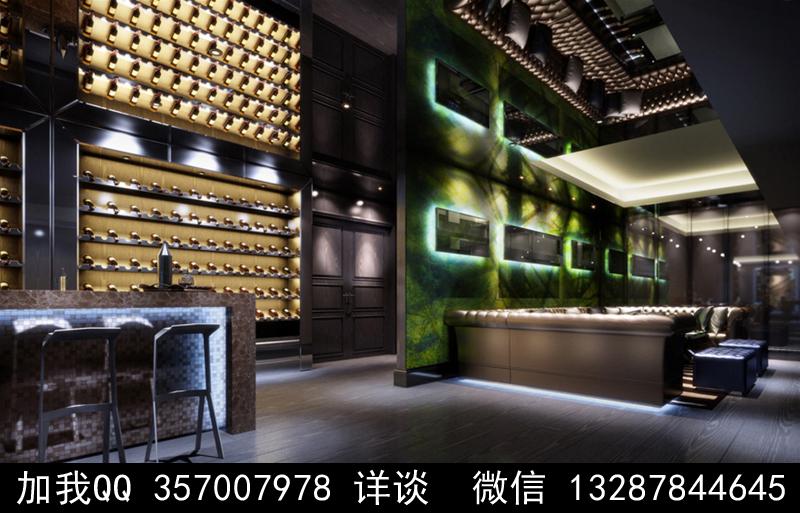酒吧设计案例效果图_图1-17