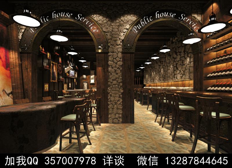 酒吧设计案例效果图_图1-15