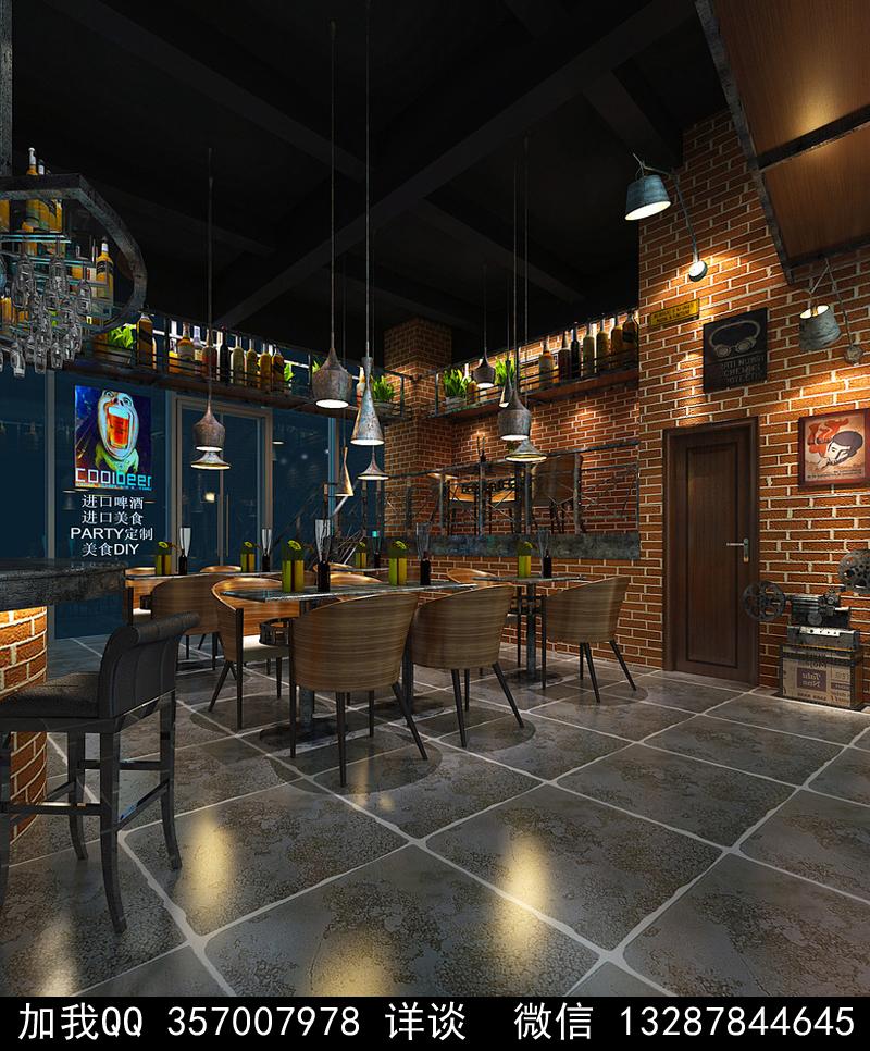 酒吧设计案例效果图_图1-14