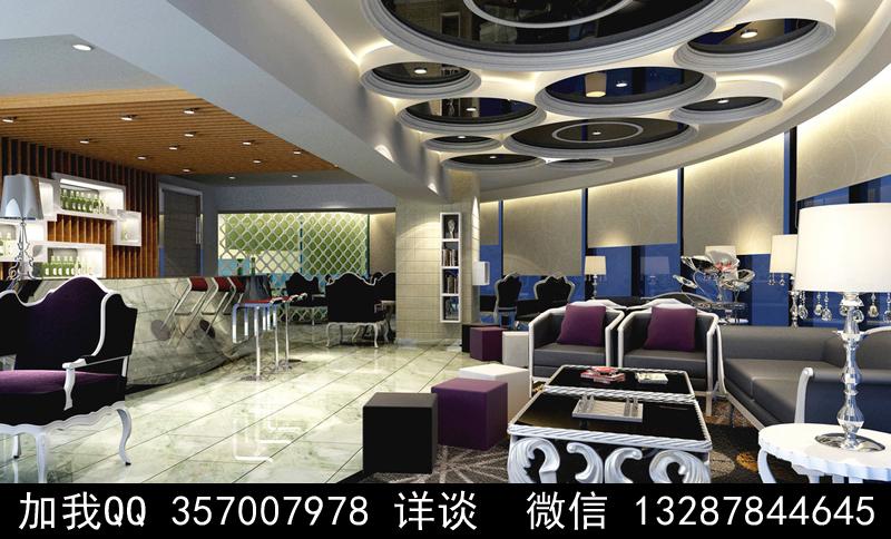 酒吧设计案例效果图_图1-13