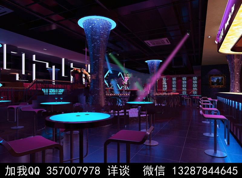 酒吧设计案例效果图_图1-7