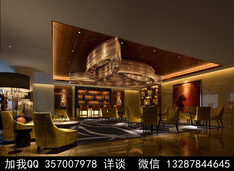 酒吧设计案例效果图_图1-9