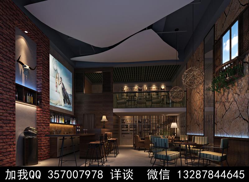 酒吧设计案例效果图_图1-5