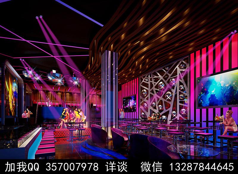 酒吧设计案例效果图_图1-4