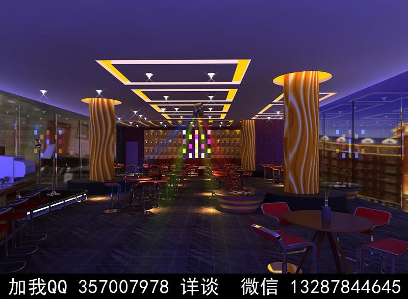 酒吧设计案例效果图_图1-2