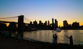 【田螺摄影】Brooklyn桥的夜景