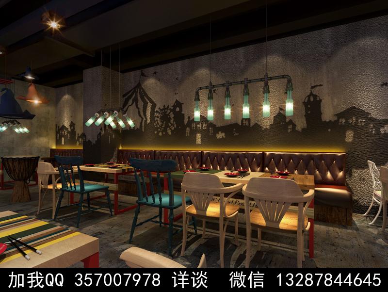 主题餐厅设计案例效果图_图1-22