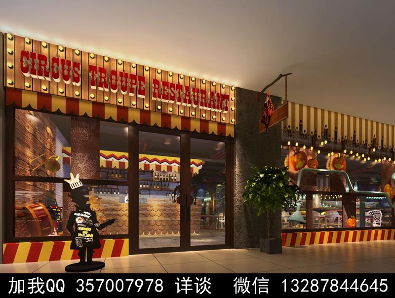 主题餐厅设计案例效果图_图1-21