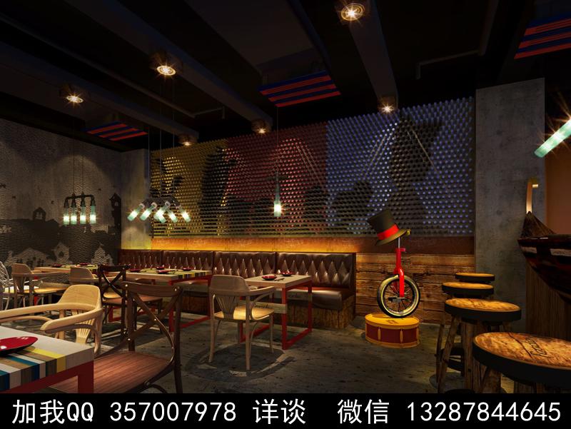 主题餐厅设计案例效果图_图1-16