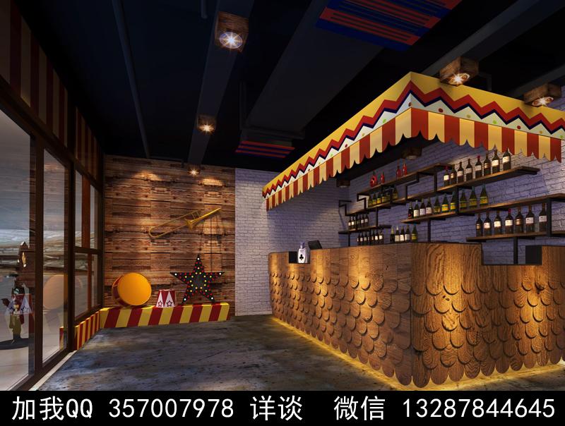 主题餐厅设计案例效果图_图1-17